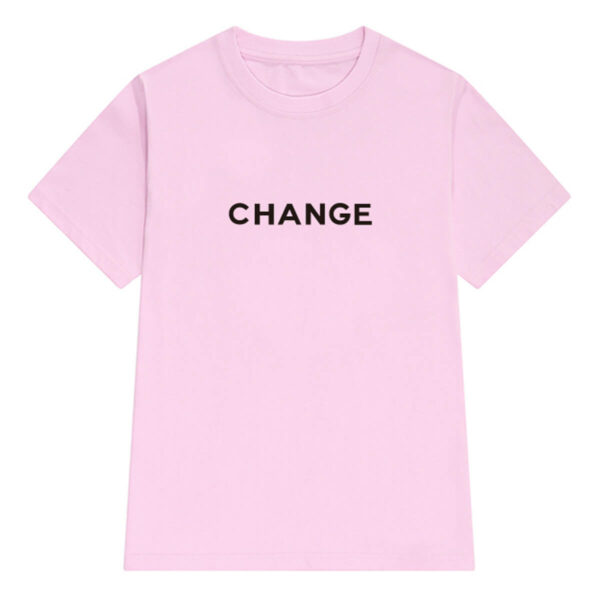 Change Letters Print Aesthetic T-Shirt (4)- Orezoria Aesthetic Outfits Shop - Aesthetic Clothing - eGirl Outfits - Soft Girl Outfits