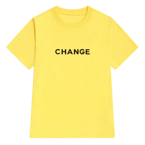 Change Letters Print Aesthetic T-Shirt (5)- Orezoria Aesthetic Outfits Shop - Aesthetic Clothing - eGirl Outfits - Soft Girl Outfits