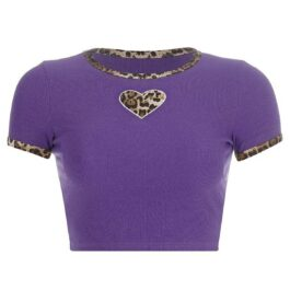 Cheetah Heart EGirl Aesthetic Crop Top (4)- Orezoria Aesthetic Outfits Shop - Aesthetic Clothing - eGirl Outfits - Soft Girl Outfits