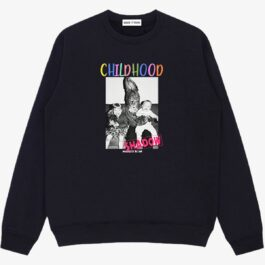Childhood Shadow Oversized Sweatshirt 1 - Orezoria Aesthetic Outfits Shop - Aesthetic Clothing - eGirl Outfits - Soft Girl Outfits
