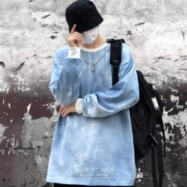 Cloudy Blue Unisex Korean Sweatshirt 3- Orezoria Aesthetic Outfits Shop - Aesthetic Clothing - eGirl Outfits - Soft Girl Outfits