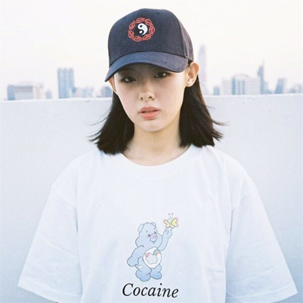 Cocaine Care Bear Meme EGirl T-Shirt 3 - Orezoria Aesthetic Outfits Shop - Aesthetic Clothing - eGirl Outfits - Soft Girl Outfits