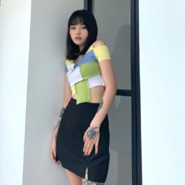 Colored Blocks Asymmetrical Crop Top2 - Orezoria Aesthetic Outfits Shop - Aesthetic Clothing - eGirl Outfits - Soft Girl Outfits.psd