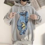 Cookie Monster Drawing Ulzzang Hoodie 1- Orezoria Aesthetic Outfits Shop - Aesthetic Clothing - eGirl Outfits - Soft Girl Outfits