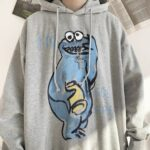 Cookie Monster Drawing Ulzzang Hoodie 3- Orezoria Aesthetic Outfits Shop - Aesthetic Clothing - eGirl Outfits - Soft Girl Outfits