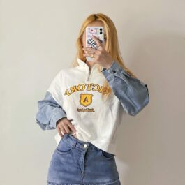 Split Elbow Victory A Sweatshirt 4- Orezoria Aesthetic Outfits Shop - Aesthetic Clothing - eGirl Outfits - Soft Girl Outfits