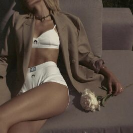 Crescent Moon Top and Underwear Shorts Set 1- Orezoria Aesthetic Outfits Shop - Aesthetic Clothing - eGirl Outfits - Soft Girl Outfits
