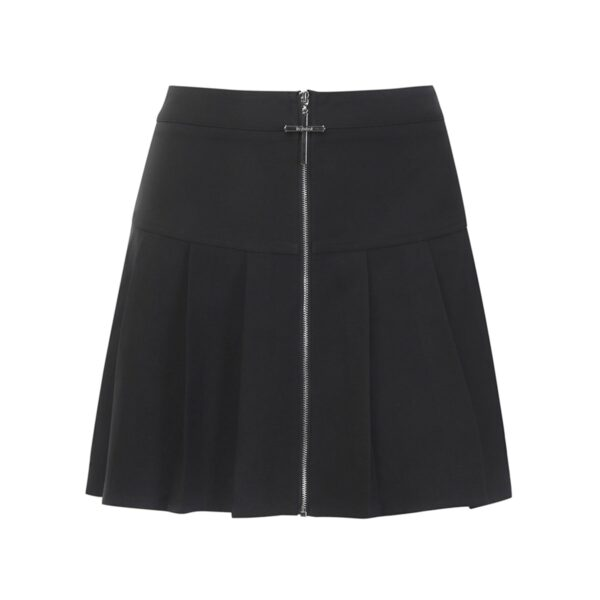 Cross Zipper Black Pleated High Waist Skirt 5- Orezoria Aesthetic Outfits Shop - Aesthetic Clothing - eGirl Outfits - Soft Girl Outfits