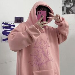 Cupid Angels Aesthetic Oversized Hooide.1- Orezoria Aesthetic Outfits Shop - Aesthetic Clothing - eGirl Outfits - Soft Girl Outfits