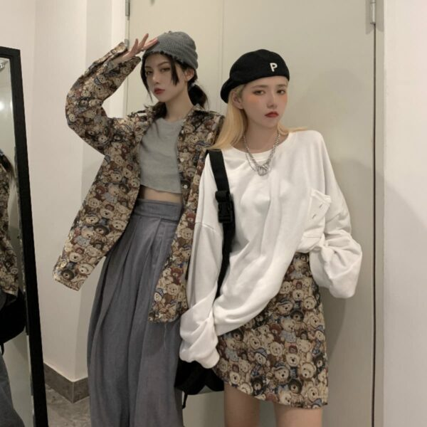 Cute Aesthetic Teddy Bears Skirt - Orezoria Aesthetic Outfits Shop - Aesthetic Clothing - eGirl Outfits - Soft Girl Outfits.psd