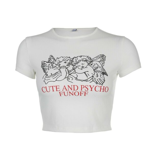 Cute and Psycho Fun Off Angels Crop Top - Orezoria Aesthetic Outfits Shop - Aesthetic Clothing - eGirl Outfits - Soft Girl Outfits.psd