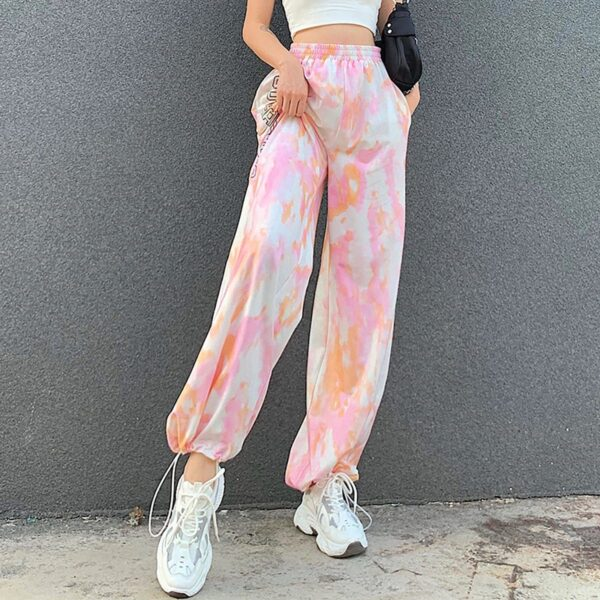 Cute and Psycho Tie Dye Soft Girl Pants (3)- Orezoria Aesthetic Outfits Shop - Aesthetic Clothing - eGirl Outfits - Soft Girl Outfits