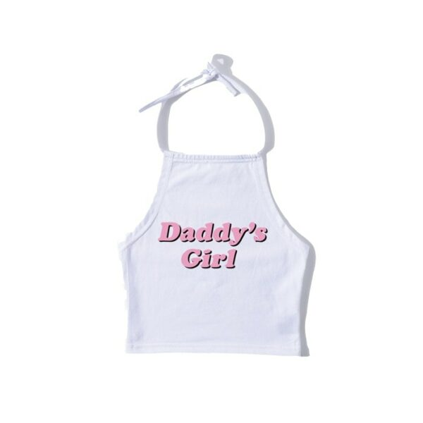 Daddy's Girl Halter Neck Baddie Crop Top - Orezoria Aesthetic Outfits Shop - Aesthetic Clothing - eGirl Outfits - Soft Girl Outfits.psd