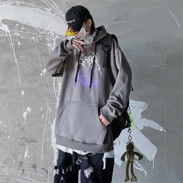 Dark Core Chapel Black Metal Hoodie 1 - Orezoria Aesthetic Outfits Shop - Aesthetic Clothing - eGirl Outfits - Soft Girl Outfits