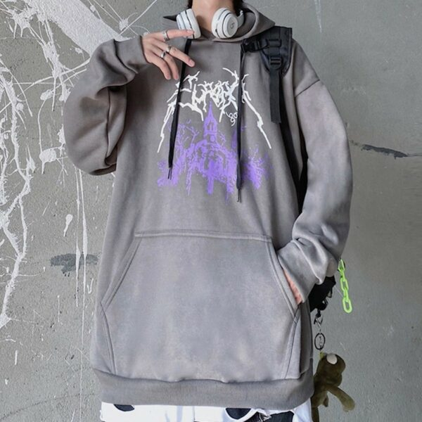 Dark Core Chapel Black Metal Hoodie 3 - Orezoria Aesthetic Outfits Shop - Aesthetic Clothing - eGirl Outfits - Soft Girl Outfits