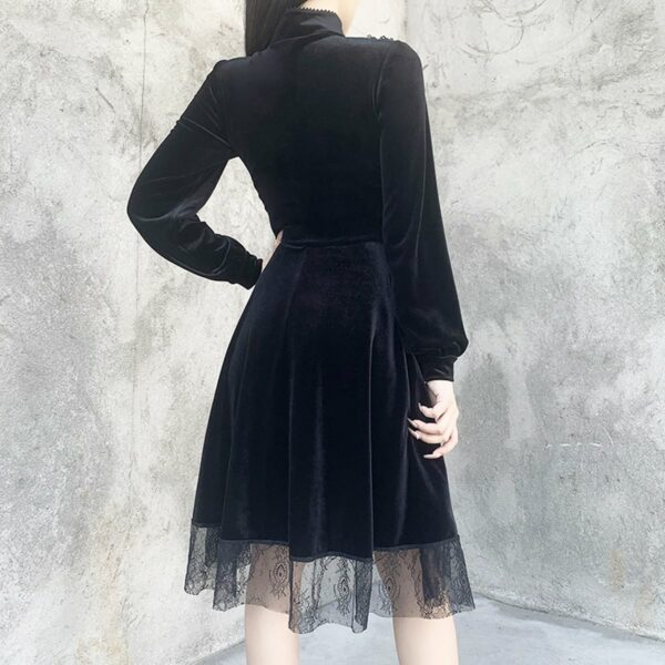 Dark Core Gothic Black Vampire Dress 5- Orezoria Aesthetic Outfits Shop - Aesthetic Clothing - eGirl Outfits - Soft Girl Outfits