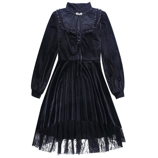 Dark Core Gothic Black Vampire Dress 6- Orezoria Aesthetic Outfits Shop - Aesthetic Clothing - eGirl Outfits - Soft Girl Outfits