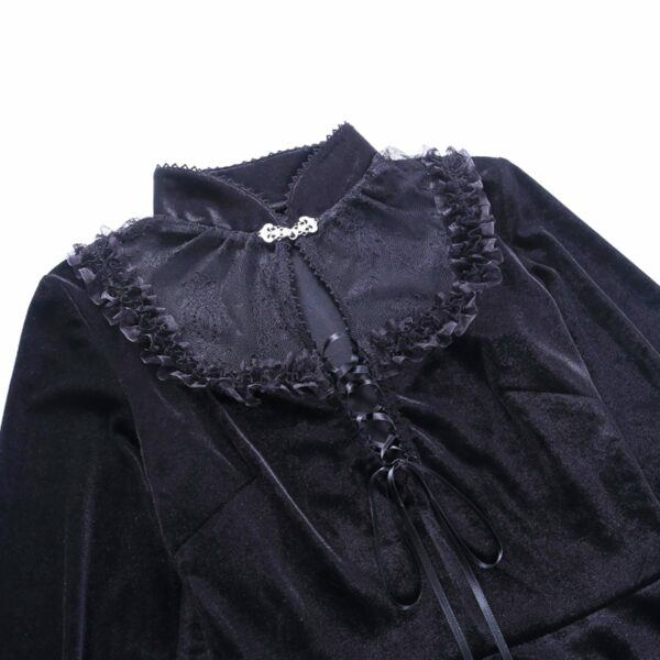 Dark Core Gothic Black Vampire Dress 7- Orezoria Aesthetic Outfits Shop - Aesthetic Clothing - eGirl Outfits - Soft Girl Outfits