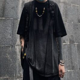 Dark Fashion Ombre Loose T-Shirt 1- Orezoria Aesthetic Outfits Shop - Aesthetic Clothing - eGirl Outfits - Soft Girl Outfits