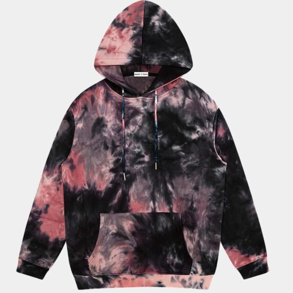 Dark Fashion Tie Dye Decadent Core Hoodie 1 - Orezoria Aesthetic Outfits Shop - Aesthetic Clothing - eGirl Outfits - Soft Girl Outfits