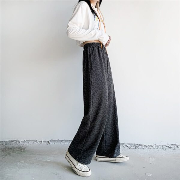 Dark Leopard Cat Loose Sweatpants 2- Orezoria Aesthetic Outfits Shop - Aesthetic Clothing - eGirl Outfits - Soft Girl Outfits