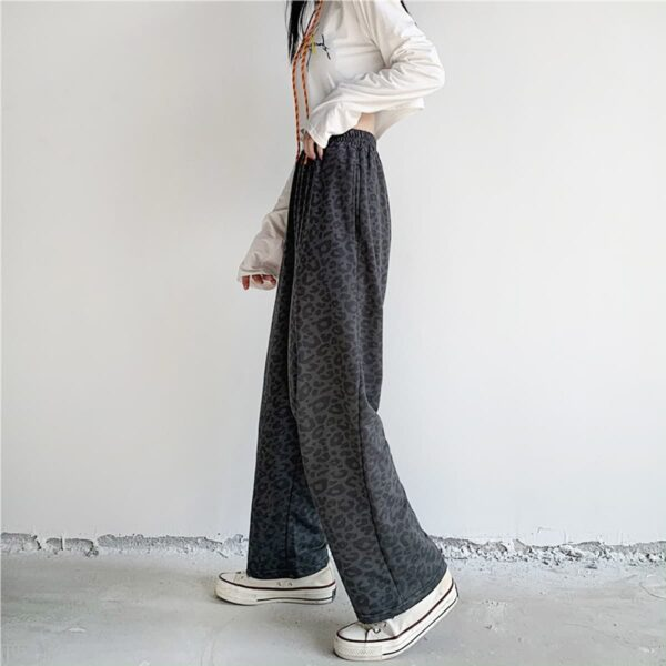 Dark Leopard Cat Loose Sweatpants 4- Orezoria Aesthetic Outfits Shop - Aesthetic Clothing - eGirl Outfits - Soft Girl Outfits