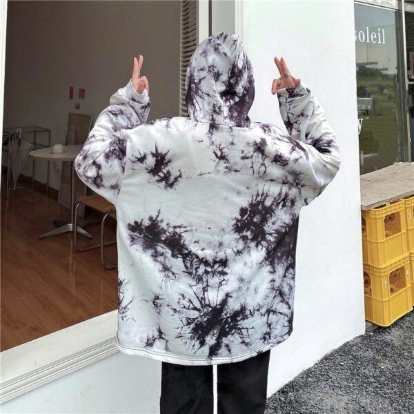Dark Virus Tie Dye Loose Hoodie.2- Orezoria Aesthetic Outfits Shop - Aesthetic Clothing - eGirl Outfits - Soft Girl Outfits