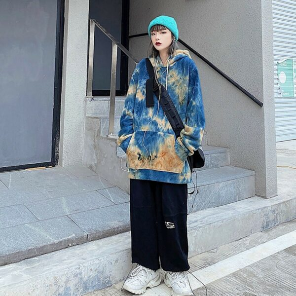 Dazzed Tie Dye Aesthetic Hoodie 2- Orezoria Aesthetic Outfits Shop - Aesthetic Clothing - eGirl Outfits - Soft Girl Outfits