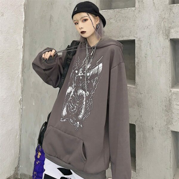 Death Metal Pikachu Oversized Hoodie 3 - Orezoria Aesthetic Outfits Shop - Aesthetic Clothing - eGirl Outfits - Soft Girl Outfits