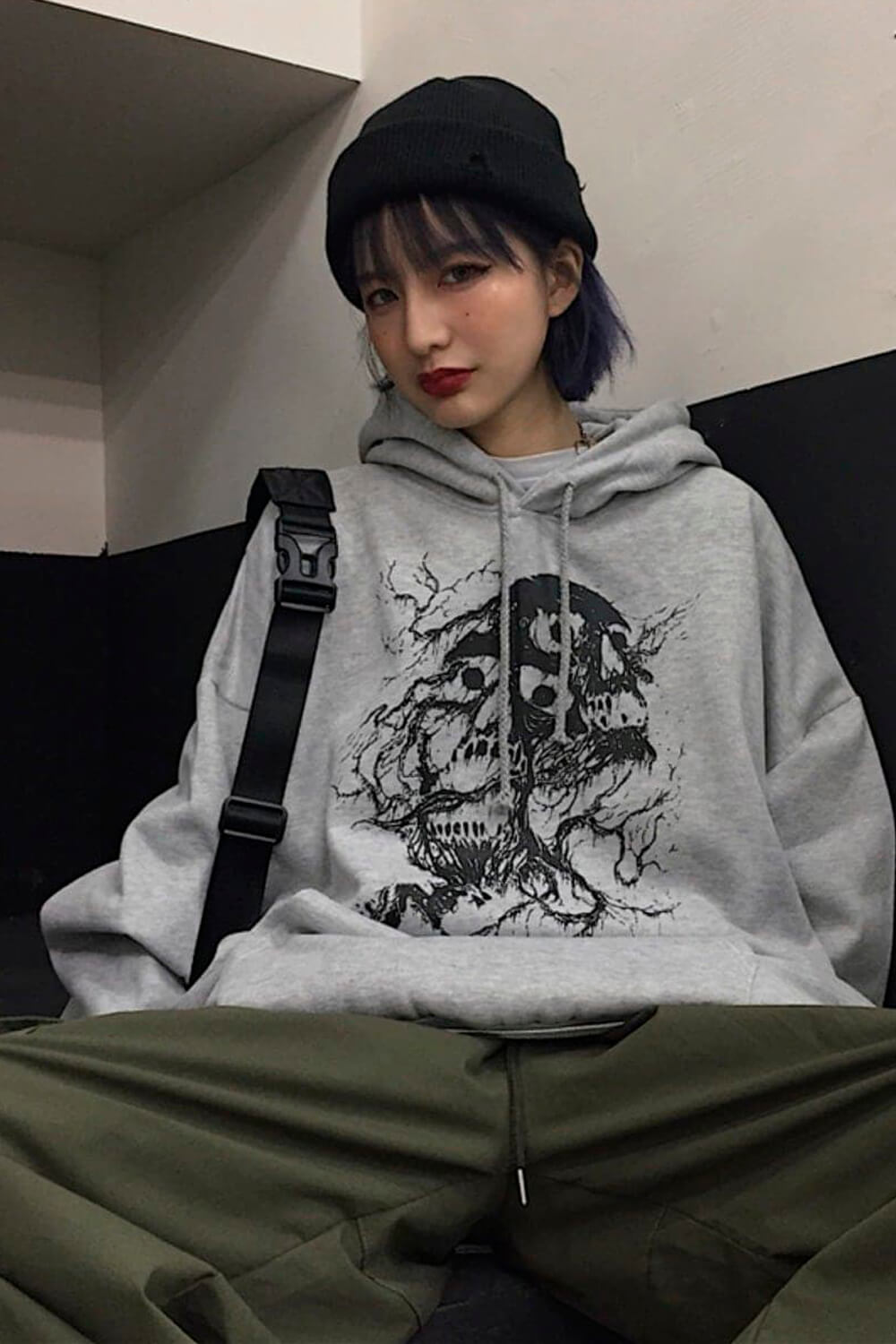 Death Roots Aesthetic Oversized Hoodie