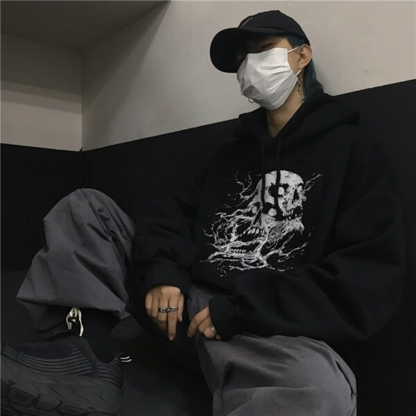 Death Roots Aesthetic Oversized Hoodie - Orezoria Aesthetic Outfits Shop - Aesthetic Clothing - eGirl Outfits - Soft Girl Outfits.psd