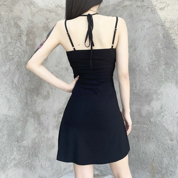 Deathly Spider Dark Core Chain Dress 5- Orezoria Aesthetic Outfits Shop - Aesthetic Clothing - eGirl Outfits - Soft Girl Outfits