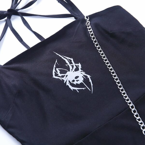 Deathly Spider Dark Core Chain Dress 6- Orezoria Aesthetic Outfits Shop - Aesthetic Clothing - eGirl Outfits - Soft Girl Outfits