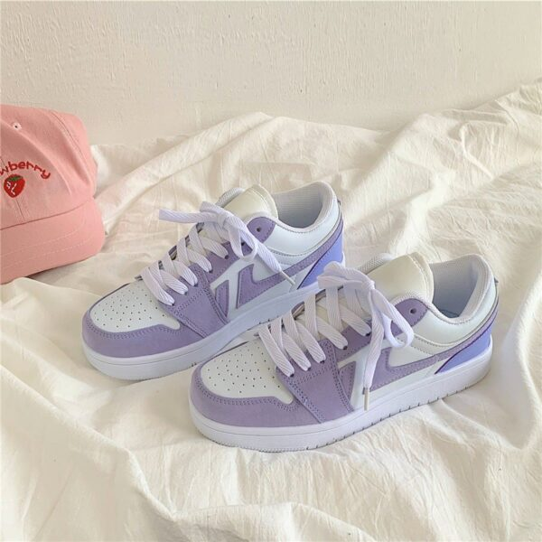 Deep Amethyst Purple Aesthetic Sneakers - Orezoria Aesthetic Outfits Shop - Aesthetic Clothing - eGirl Outfits - Soft Girl Outfits.psd