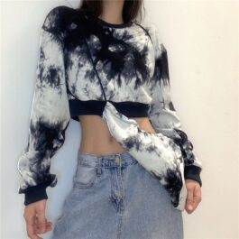 Detachable Hood Tie Dye Sweatshirt 2- Orezoria Aesthetic Outfits Shop - Aesthetic Clothing - eGirl Outfits - Soft Girl Outfits