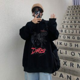 Dirtisi Enginering Sketch Korean Hoodie 1- Orezoria Aesthetic Outfits Shop - Aesthetic Clothing - eGirl Outfits - Soft Girl Outfits