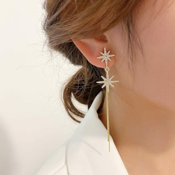 Distorted Star Korean Fashion Earrings (1)- Orezoria Aesthetic Outfits Shop - Aesthetic Clothing - eGirl Outfits - Soft Girl Outfits