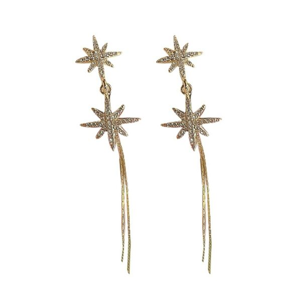 Distorted Star Korean Fashion Earrings (3)- Orezoria Aesthetic Outfits Shop - Aesthetic Clothing - eGirl Outfits - Soft Girl Outfits