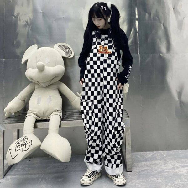 Don't Talk To Strangers Checkered Overall 3 - Orezoria Aesthetic Outfits Shop - Aesthetic Clothing - eGirl Outfits - Soft Girl Outfits.psd