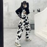 Don't Talk To Strangers Cow Pattern Overall 1 - Orezoria Aesthetic Outfits Shop - Aesthetic Clothing - eGirl Outfits - Soft Girl Outfits.psd