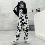 Don't Talk To Strangers Cow Pattern Overall 4 - Orezoria Aesthetic Outfits Shop - Aesthetic Clothing - eGirl Outfits - Soft Girl Outfits.psd