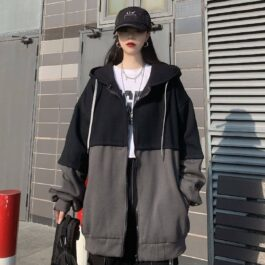 Double Color Oversized Korean Hoodie