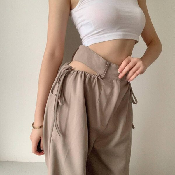 Drape Scheming Long Loose Mopping Pants.1- Orezoria Aesthetic Outfits Shop - Aesthetic Clothing - eGirl Outfits - Soft Girl Outfits