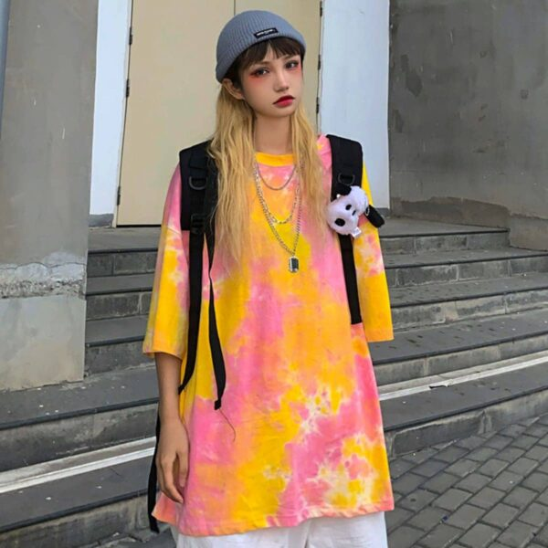 Dreamy Tie Dye Soft Girl Tee 1- Orezoria Aesthetic Outfits Shop - Aesthetic Clothing - eGirl Outfits - Soft Girl Outfits