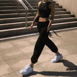 Elastic Waist Casual Sport Pants 2 - Orezoria Aesthetic Outfits Shop - Aesthetic Clothing - eGirl Outfits - Soft Girl Outfits.psd