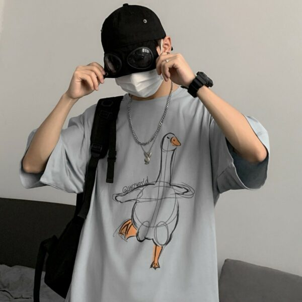 Evil Goose Sketch Unisex Loose T-Shirt (5)- Orezoria Aesthetic Outfits Shop - Aesthetic Clothing - eGirl Outfits - Soft Girl Outfits.psd