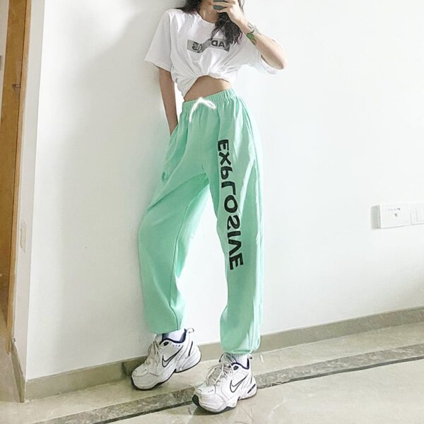 Explosive Mint Green Workout Pants 1- Orezoria Aesthetic Outfits Shop - Aesthetic Clothing - eGirl Outfits - Soft Girl Outfits