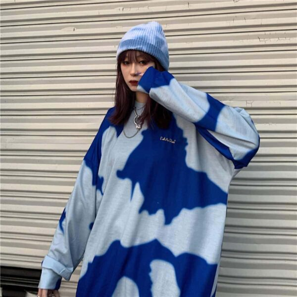 Fall As Rain Stains Oversized Sweatshirt - Orezoria Aesthetic Outfits Shop - Aesthetic Clothing - eGirl Outfits - Soft Girl Outfits.psd