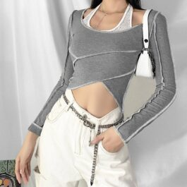 Floral Halter Neck Two Piece Crop Top 1 - Orezoria Aesthetic Outfits Shop - Aesthetic Clothing - eGirl Outfits - Soft Girl Outfits