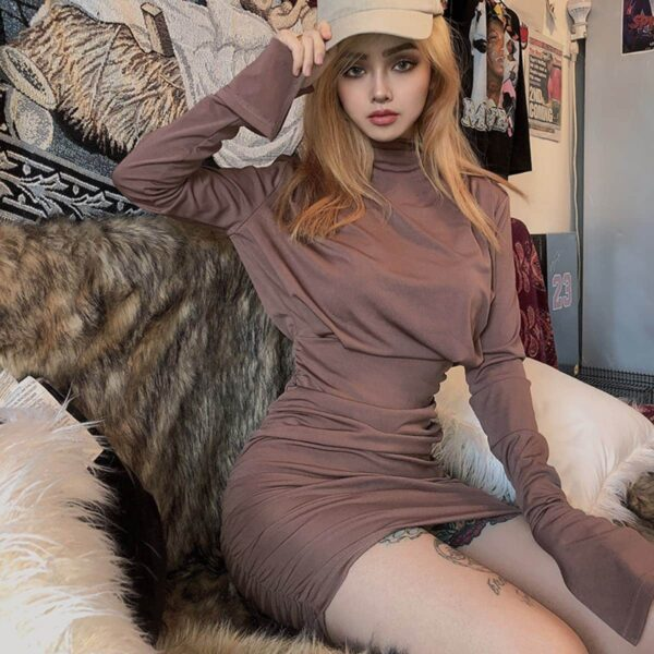 French Niche Copper Rose Dress 1 - Orezoria Aesthetic Outfits Shop - Aesthetic Clothing - eGirl Outfits - Soft Girl Outfits.psd
